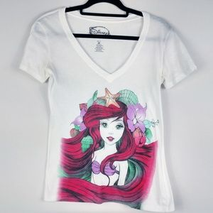 Disney Little Mermaid Ariel V-Neck Graphic Tee
